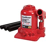 Strongway Hydraulic High Lift Double Ram Bottle Jack - 2-Ton Capacity, 5 15/16in.-14 1/2in. Lift Range