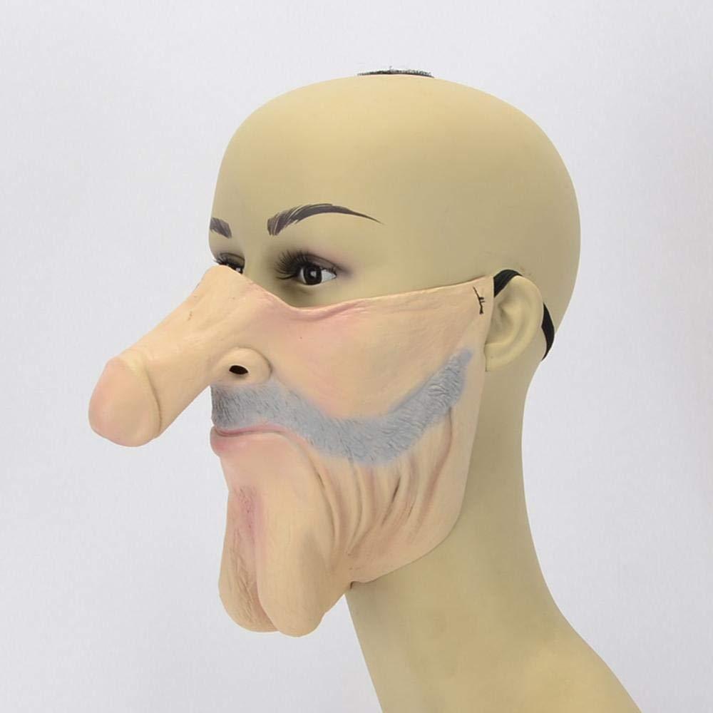 Littlefairy Halloween mask,Halloween Nightclub Carnival Party Bulldog Funny Latex grau Beard mask B07JVHKVKY Masken für Erwachsene Einzigartig | Verkauf Online-Shop
