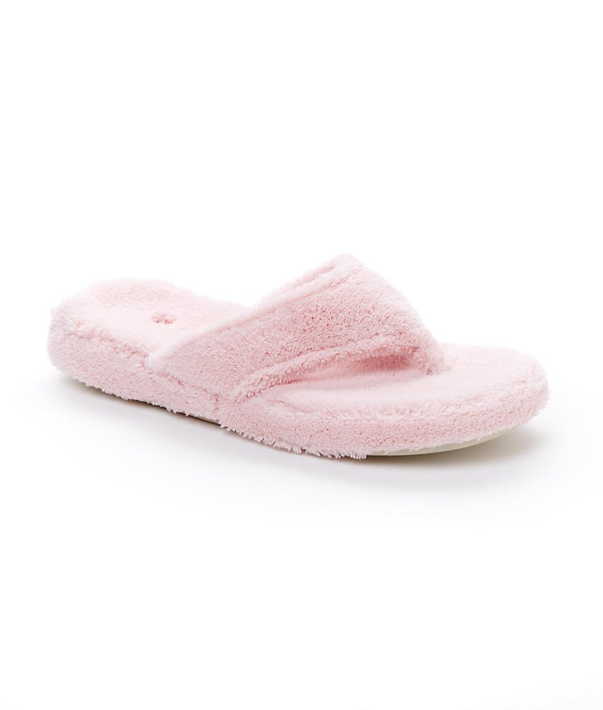 Acorn Women's Spa Thong Slipper, Pink, Small/5-6 M US