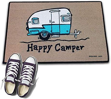 HIGH COTTON Welcome Doormat – Happy Camper with Retro Camper