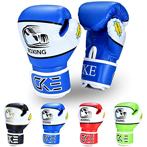 CKE Kids Boxing Gloves for Kids Boys Girls Junior Youth Toddlers Age 5-12 Years Training Boxing Gloves for Punching Bag…