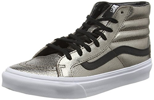 HI Women's Vans Leather Slim SK8 9 Bronze Metallic 5 Black Shoes pqwwB057