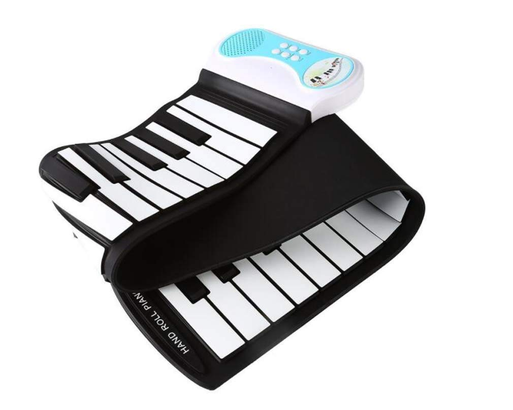 CE-LXYYD 49-Key Educational Electronic Digital Music Piano, Portable Keyboard w/Recording Feature Hand roll Piano, 8 Different Tones, 6 Educational Demo Songs & Build-in Speaker by CE-LXYYD (Image #1)
