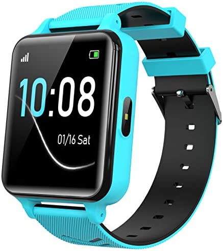 Kids Smartwatch for Boys Girls - Kids Smart Watch Phone Touch Screen with Calls Games Alarm Music Player Camera SOS Calculator Calendar Children Toys Birthday Gifts for 4-12 Years Students (Blue)
