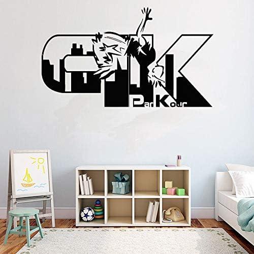 ganlanshu Pegatinas de Pared Calcomanías de Deportes de Calle Calcomanías de Parkour Arte extraíble Pegatinas de Vinilo Decoración del hogar Murales para Adolescentes 72cmx42cm: Amazon.es: Hogar