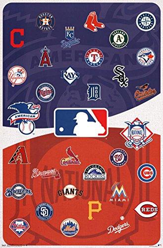 Sports Poster Logo (Trends International MLB - Logos Wall Poster, 22.375