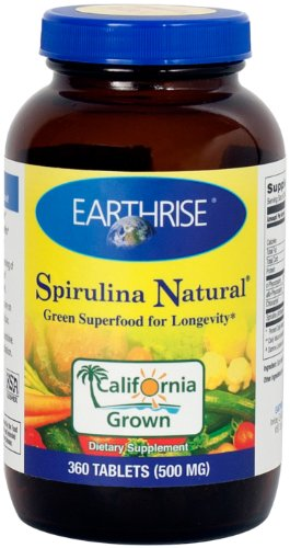 Earthrise Spirulina naturel, 360 comprimés 500mg