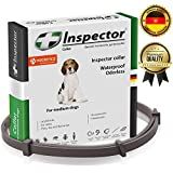 Dog Flea Treatment Collar - Inspector Flea & Worm Collar for dogs – Flea Control and Tick Treatment – Better than Oral Flea Control Meds – Dog Dewormer – Dog Worm Medicine for Tapeworms (22-65LB (25inch))