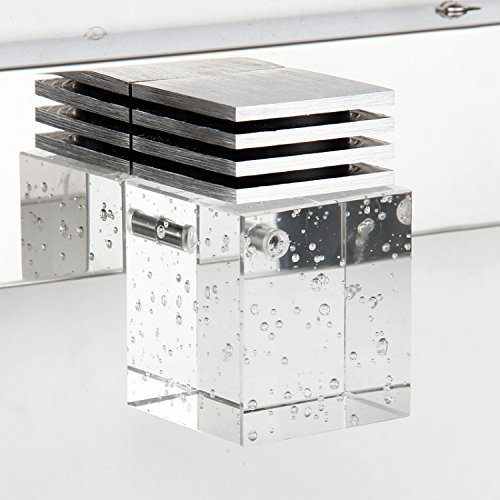 Crystal Led Vanity Lights : comeonlight Bathroom Vanity Light, LED Wall Lamp, 4-lights 6000K White 12W (Crystal Cube ...