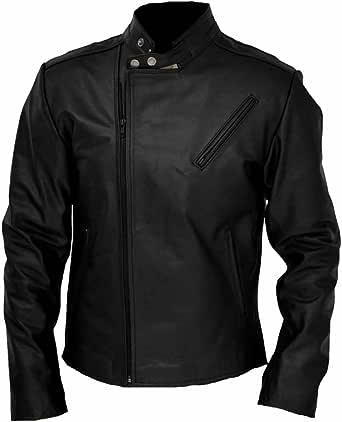 SleekHides Mens Fashion Moto Jacket with Spider Design