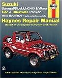 Suzuki Samurai/Sidekick/X-90 & Geo & Chevrolet Tracker: 1986 thru 2001: All 4-cylinder models (Haynes Manuals) by Chilton, Bob Henderson, John H. Haynes (2001) Paperback