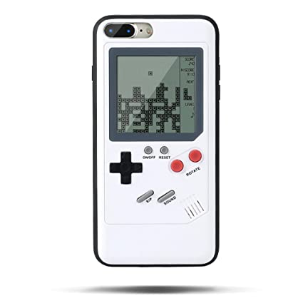 reputable site d7fc1 da7a0 Tetris Phone Case for iPhone 7/8 , SIKSIN Creative Gameboy Cell Phone Case  Playable Childhood iPhone Case with Built-in Tank War Tetris Game White