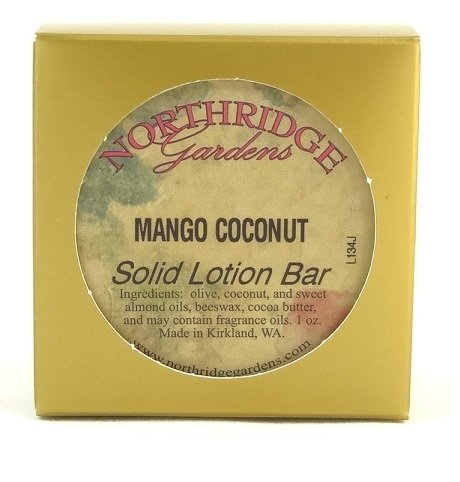 Northridge Gardens Mango Coconut Solid Lotion Bar 1oz