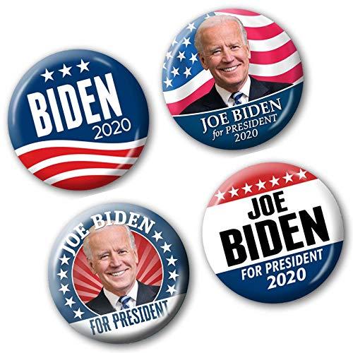 (Marsh Enterprises 4-PACK buttons - Joe BIDEN for President 2020 Pins - Design #5946)