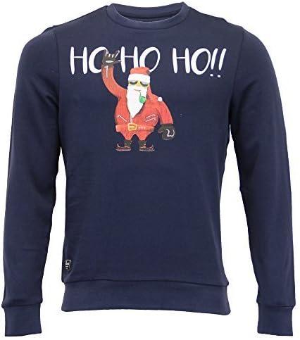 Mens Christmas Sweatshirt Threadbare Xmas Santa Claus King Size Reindeer Snowman