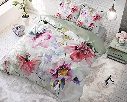Dreamhouse Bettwäsche Baumwolle Blumen Wasser 140cm X 220cm Mit 1