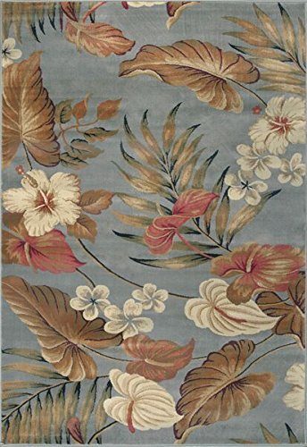 Wool Tropical Floral Area Rug - KAS Oriental Rugs Lifestyles Collection Tropical Area Rug, 7'10