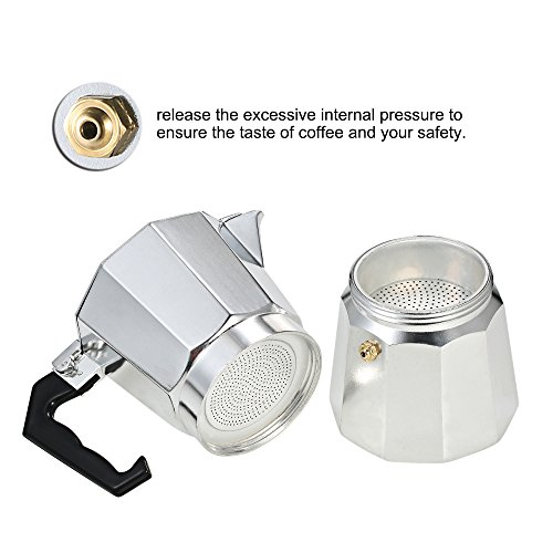 Decdeal 3-12 Cup Stovetop Espresso Maker Aluminum Coffee Stovetop Maker Mocha Pot for Use on Gas or Electric Stove