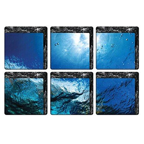 SODIAL(R) Peel and Stick Non Slip PVC Bathtub Stickers Bathtub Appliques Bathtub Decals, seawater AEQW-WER-AW138705
