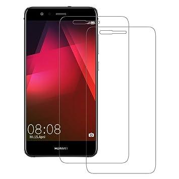 2 Pack Verre Trempé Huawei P10 Lite, POOPHUNS Film Protection Ecran en Verre  Trempé pour 6383dec03b7d