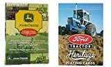 """ Get Plowed"" Ford & John Deere Tractor 2-Deck Playing Card Set by Bicycle"
