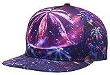 NUZADA Printed Cotton 3D Snapback Baseball Cap Hip Hop Girls Boys Sporty Flatbrim Hat