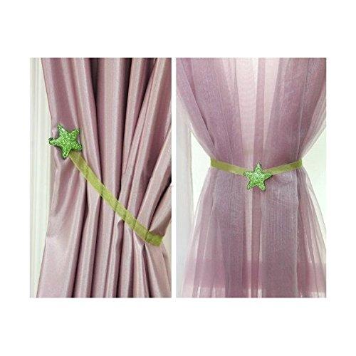 Ayygift スターカーテンクリップ カーテンバックル 磁気留め飾りカーテンタイアクセサリー(グリーン)  Stargreen B00K629V98