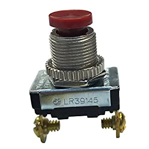 Gardner Bender GSW-23 Momentary Contact Push-Button Switch, SPST, ON (OFF)
