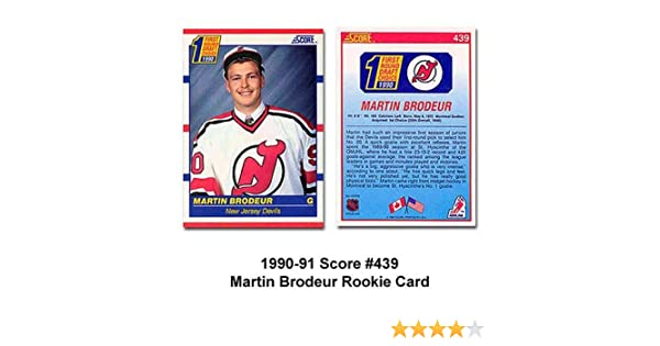 Score New Jersey Devils Martin Brodeur 90 91 Rookie Card At Amazon S