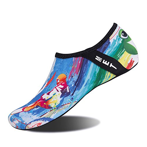 Surfing and Quick Blue Aqua Yoga for Dry Exercise Shoes Kids Water Socks Womens Beach Swim Mens Surf Barefoot TwdYqSq