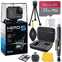 GoPro HERO 5 Black (7 items) + 32 GB Micro SD + Case + Accessory Bundle