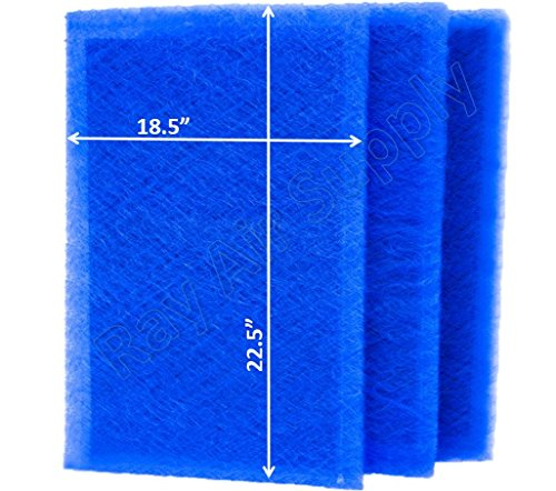 RAYAIR SUPPLY 20x25 Pristine Air Cleaner Replacement Filter Pads 20X25 Refills (3 Pack)
