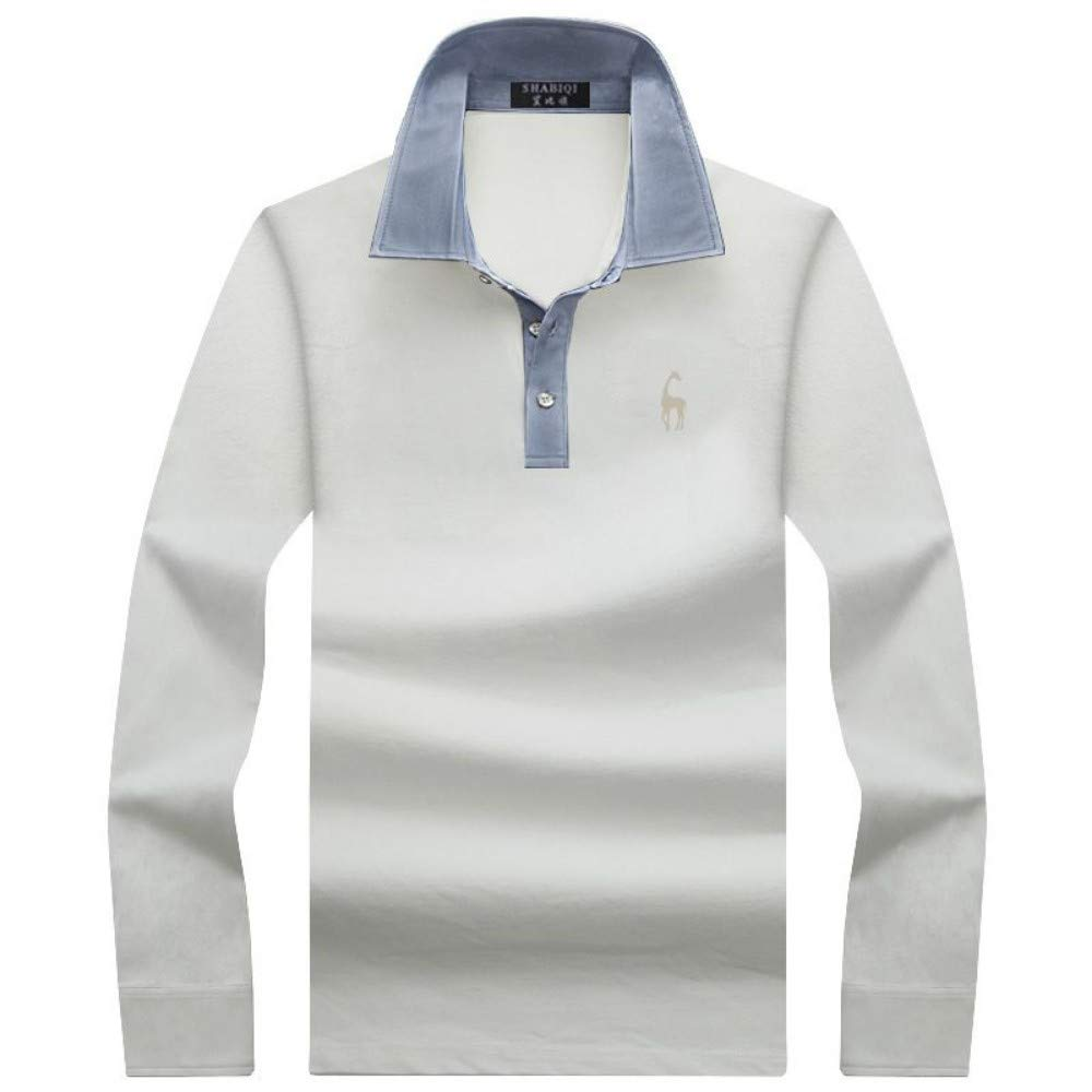 NISHIPANGZI Mantenga Caliente Hombres Polo Shirt Color sólido Slim ...