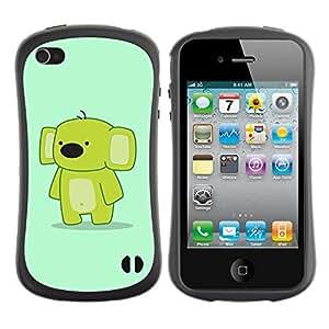 Pulsar iFace Series Tpu silicona Carcasa Funda Case para Apple iPhone 4 / iPhone 4S , Funny Cute Friendly Koala