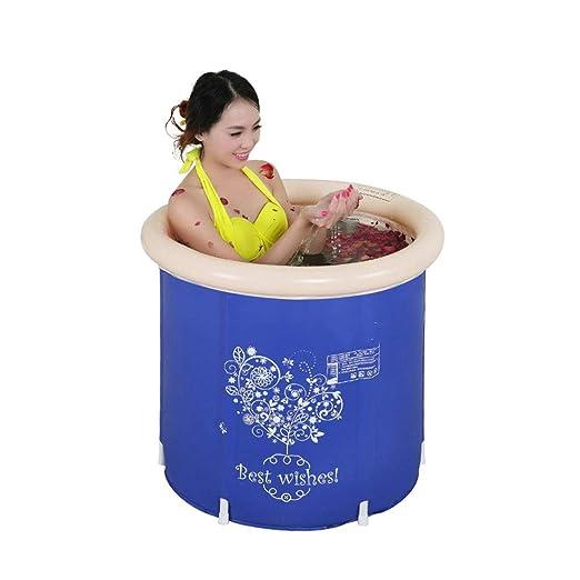 LYM & bañera Plegable Bañera de plástico Plegable Barril de baño ...