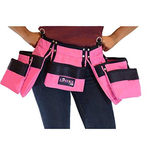 Pink waist garden tool holder