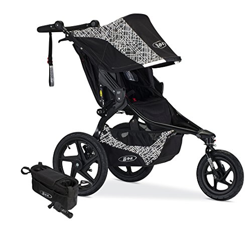 BOB Revolution Flex 2.0 Jogging Stroller; Lunar with Handlebar Console and Tire Pump