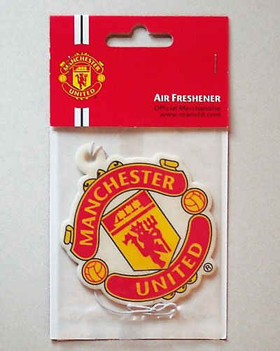 Manchester United Supporter (Partiesandgifts Official Manchester United FC Car Air Freshener - A Great Christmas, Birthday, Valentine, Anniversary Gift For Husbands, Fathers, Sons, Boyfriends, Friends And Any Avid Manchester United Football Club Fan Supporter)
