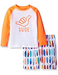 The Children's Place Toddler Boys' Long Sleeve Rashguard...