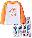 The Childrens Place Toddler Boys Long Sleeve Rashguard and Trunks Swim Set
