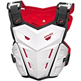 EVS F1 Youth Roost Guard MotoX/Off-Road/Dirt Bike Body Armor - White - S/M (<5'3'', <125 lbs)