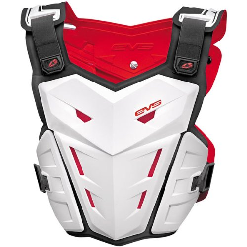 EVS F1 Adult Roost Guard MotoX/Off-Road/Dirt Bike Motorcycle Body Armor - White / Large/X-Large (Evs Body Armor)