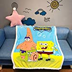 FairyShe-Baby-Fleece-Throw-Blanket-Kids-Soft-Warm-Cartoon-Plush-BlanketCoral-Velvet-Fuzzy-Blanket-for-Crib-Bed-Couch-Chair-Fall-Winter-Spring-Living-RoomPatrick-Star