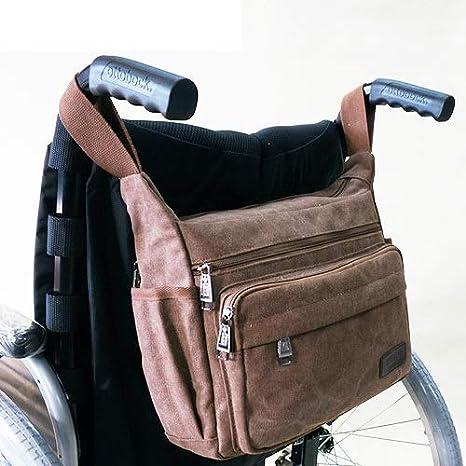 ZHICHUAN Bolsa de almacenamiento de mochila para silla de ruedas - Bolsa de accesorios de transporte en silla de ruedas, andadores rodantes; Sillas de transporte - Bolsa para silla