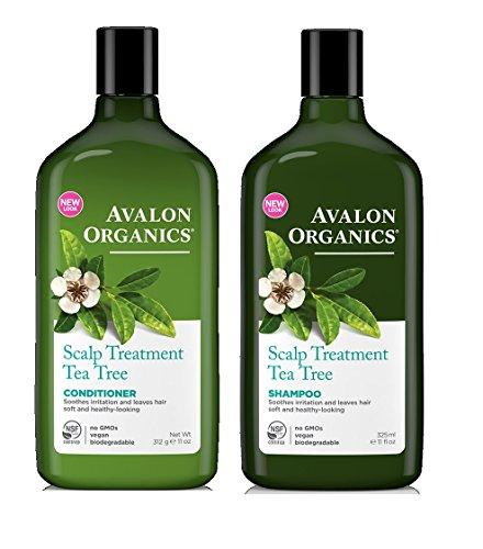 Avalon Organics Tea Tree Scalp Treatment Shampoo & Conditioner, 11 - Shampoo Avalon Nourishing Organics