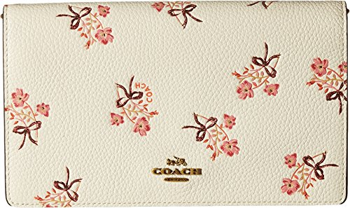 COACH Women's Floral Bow Fold-Over Crossbody Clutch Ol/Chalk One Size by Coach