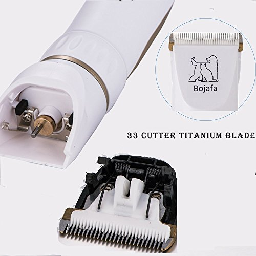 Bojafa Dog Grooming Clippers Low Noise Cordless Pet Grooming Clippers Tools Horse Cat Dog Hair Clippers Shaver Kit by Bojafa (Image #6)