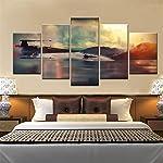 NATVVA Painting for Living Room Wall Decor Painting for Bedroom Wall Decorations Split Painting Wall Art