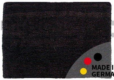 Fußmatte Fußabstreifer Kokos Wendematte Uni einfarbig schwarz Kokosmatte 50x70x2,5cm