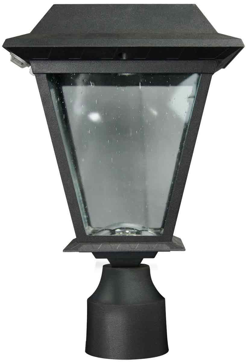 XEPA SPX113 Solar-Powered LED Lantern with Motion Detection Function and 3-Inch Post/ Pole Fitter Mount